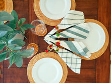 Load image into Gallery viewer, Iraca Palm Woven Burnt Orange Placemats with Coasters Wholesale