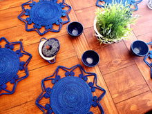 Load image into Gallery viewer, Blue Star Iraca Palm Woven Placemats with Coasters