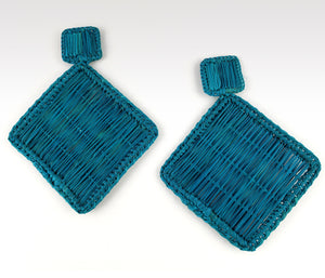 Alberta - Iraca Palm Leaf Handwoven Earrings Wholesale