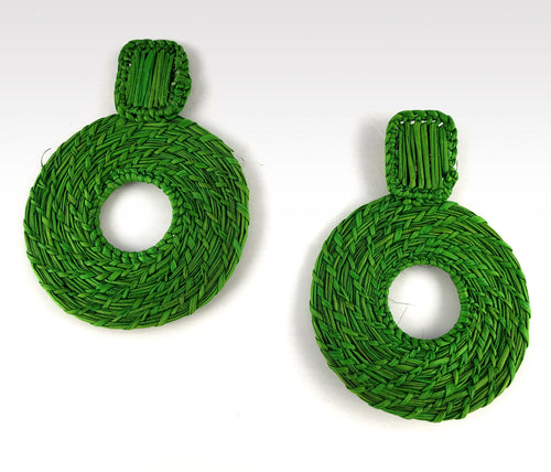 Ana - Iraca Palm Leaf Handwoven Earrings Wholesale