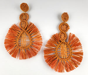 Azuzena - Iraca Palm Leaf Handwoven Earrings Wholesale