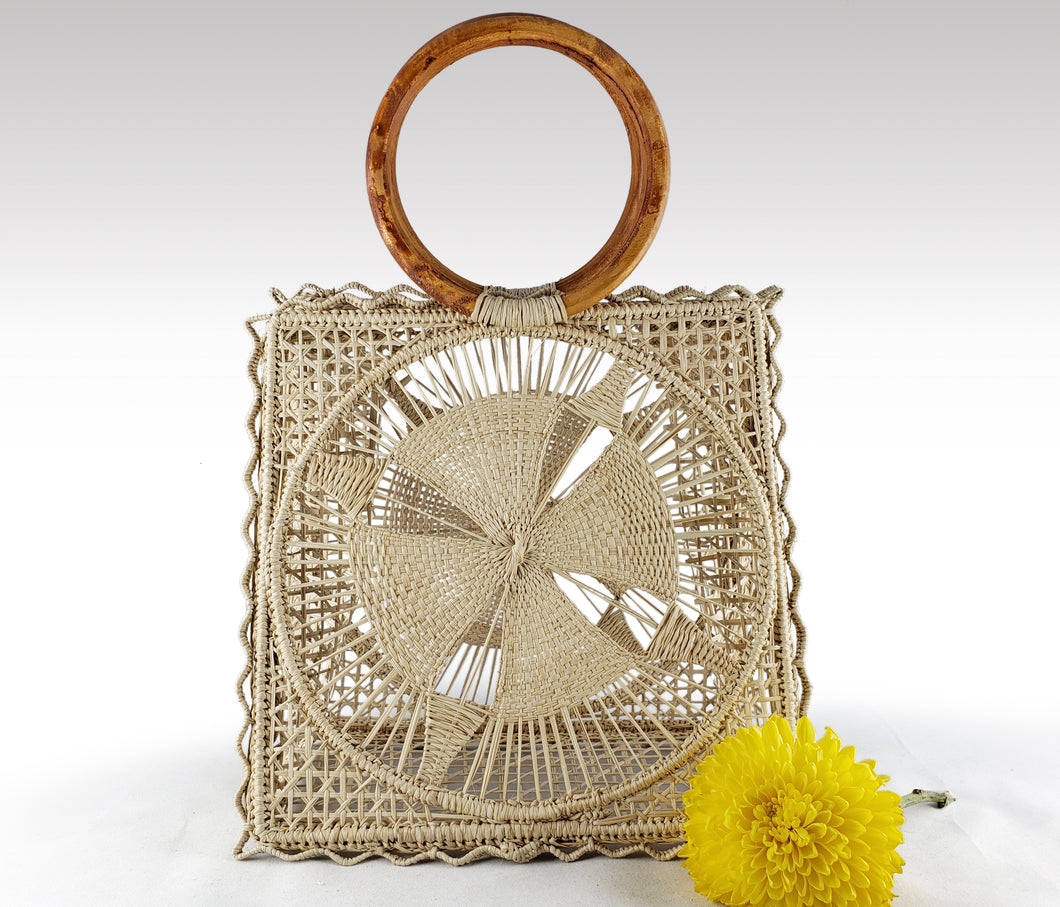 Ava - Iraca Palm Authentic Handmade Handbag Wholesale