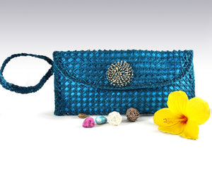 Azure Envelope Bag - Iraca Palm Authentic Handmade Handbag