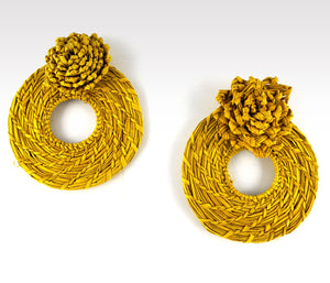 Carlota - Iraca Palm Leaf Handwoven Earrings Wholesale