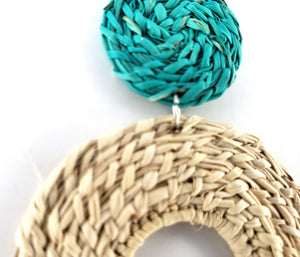 Emilia - Iraca Palm Leaf Handwoven Earrings
