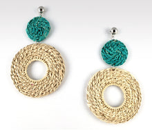 Load image into Gallery viewer, Emilia - Iraca Palm Leaf Handwoven Earrings Wholesale