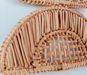Esther - Iraca Palm Leaf Handwoven Earrings Wholesale
