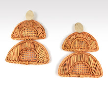 Load image into Gallery viewer, Esther - Iraca Palm Leaf Handwoven Earrings