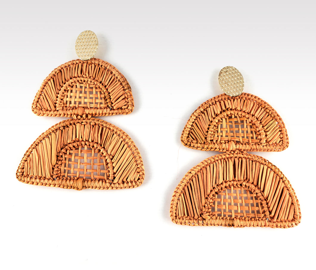 Esther - Iraca Palm Leaf Handwoven Earrings