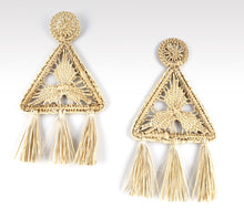 Load image into Gallery viewer, Ileana - Iraca Palm Leaf Handwoven Earrings Wholesale