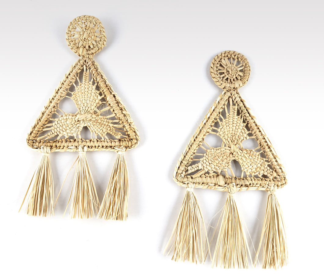 Ileana - Iraca Palm Leaf Handwoven Earrings Wholesale