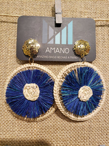 Juana - Iraca Palm Leaf Handwoven Earrings Wholesale