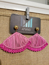 Load image into Gallery viewer, Addison - Iraca Palm Leaf Handwoven Earrings Wholesale