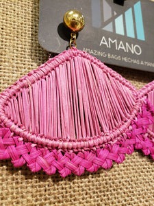 Addison - Iraca Palm Leaf Handwoven Earrings Wholesale