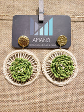 Load image into Gallery viewer, Josefa - Iraca Palm Leaf Handwoven Earrings Wholesale