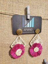 Load image into Gallery viewer, Ingrid - Iraca Palm Leaf Handwoven Earrings Wholesale