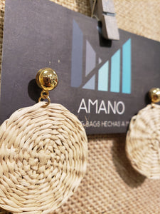 Rocio - Iraca Palm Leaf Handwoven Earrings Wholesale