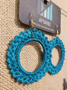 Antonella - Iraca Palm Leaf Handwoven Earrings Wholesale