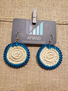 Heidi - Iraca Palm Leaf Handwoven Earrings Wholesale