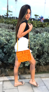 Salma - Geometric Iraca Palm Authentic Handmade Handbag