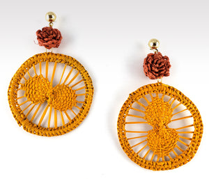 Katy - Iraca Palm Leaf Handwoven Earrings
