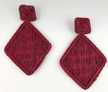 Load image into Gallery viewer, Lidia - Iraca Palm Leaf Handwoven Earrings Wholesale
