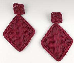 Lidia - Iraca Palm Leaf Handwoven Earrings Wholesale