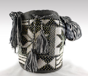 Leslie - Wayuu Authentic Mochila Bag with Crystals