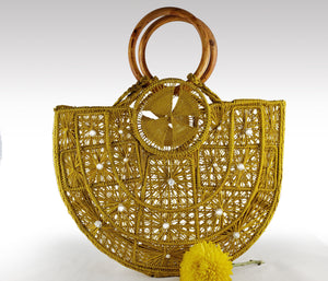 Lily - Iraca Palm Authentic Handmade Handbag Wholesale