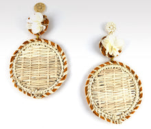 Load image into Gallery viewer, Mariana - Iraca Palm Leaf Handwoven Earrings Wholesale