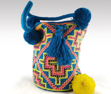 Load image into Gallery viewer, Martha - Wayuu Authentic Mochila Bag with Crystals