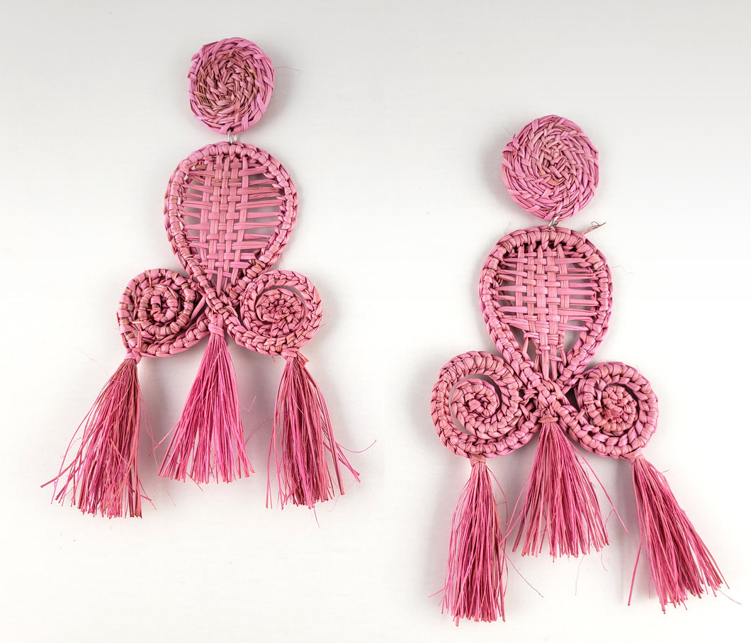 Peggy - Iraca Palm Leaf Handwoven Earrings