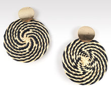 Load image into Gallery viewer, Rafaella - Iraca Palm Leaf Handwoven Earrings Wholesale
