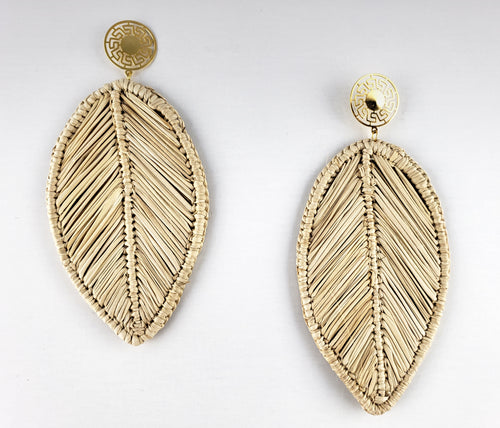Ramona - Iraca Palm Leaf Handwoven Earrings Wholesale