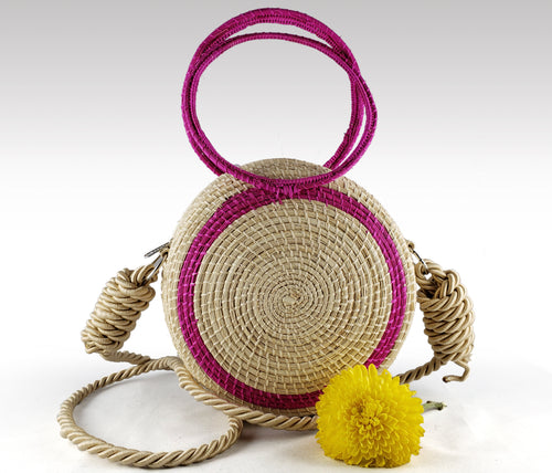 Raquel - Iraca Palm Authentic Handmade Round Handbag