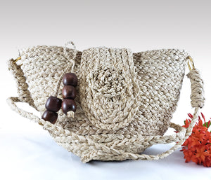 Rebecca - Iraca Palm Authentic Handmade Handbag Wholesale