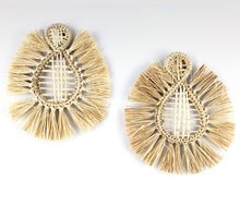 Load image into Gallery viewer, Trina - Iraca Palm Leaf Handwoven Earrings