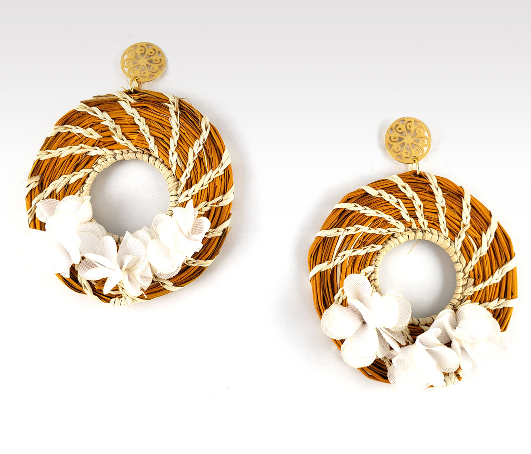 Viviana - Iraca Palm Leaf Handwoven Earrings