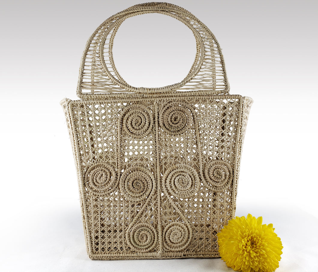 Lucia - Iraca Palm Authentic Handmade Handbag Basket Wholesale