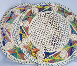 Iraca Palm Color Placemats with Coasters Wholesale