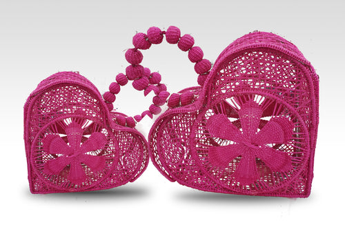 Corazones - Mommy and Me Matching Heart Iraca Palm Handbags Wholesale
