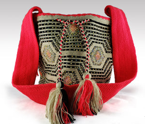Dulce - Wayuu Authentic Mochila Bag with Crystals Wholesale