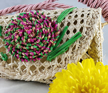 Load image into Gallery viewer, Masiel - Iraca Palm Authentic Handmade Handbag with Flower Accent and Rope Handle Wholesale