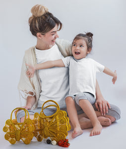 Mariposas - Mommy and Me Matching Iraca Palm Handbags