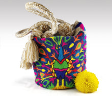 Load image into Gallery viewer, Pavo Real - Wayuu Authentic Mochila Bag with Peacock design Wholesale