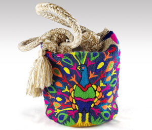 Pavo Real - Wayuu Authentic Mochila Bag with Peacock design Wholesale