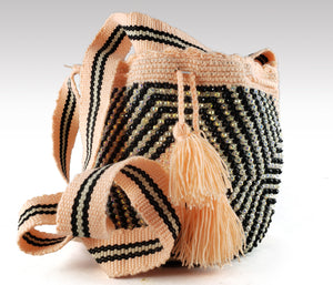 Soledad - Wayuu Authentic Mochila Bag Mini with Crystals Wholesale