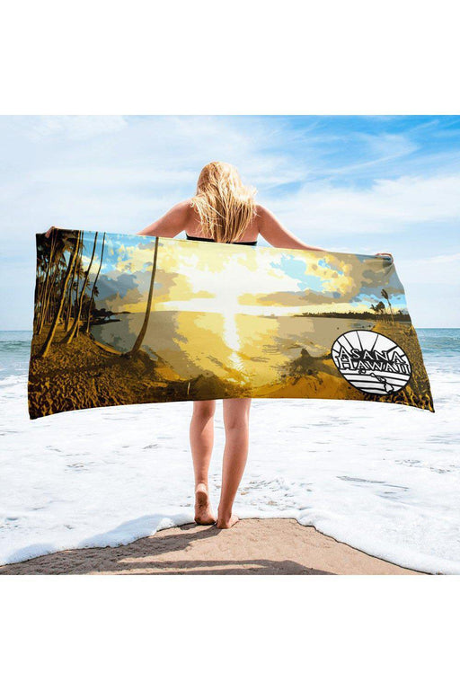 Asana Hawaii Beach Towel Anaeho'omalu Hawaii Beach Towel