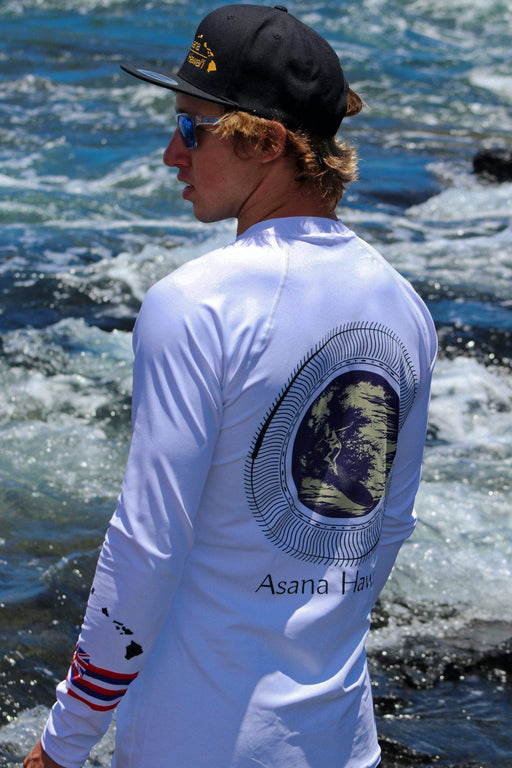 Asana Hawaii Men's Rash Guard XS Asana Hawaii Geo Surfer Men's Rash Guard