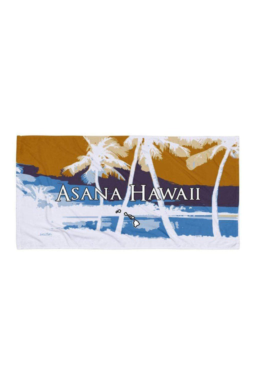 Asana Hawaii Beach Towel Kohala Palms Beach Towel